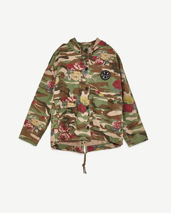 Image 8 of HOODED CAMOUFLAGE JACKET MAUI AND SONS ® from