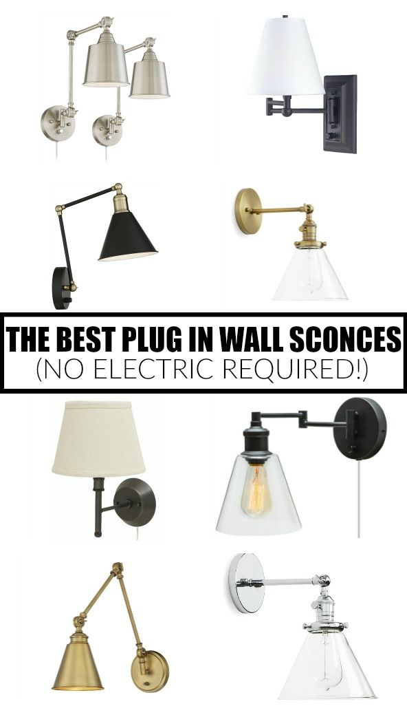 12 Of The Best Plug In Wall Sconces No Electric Required Plug In Wall Sconce Farmhouse Wall Sconces Wall
