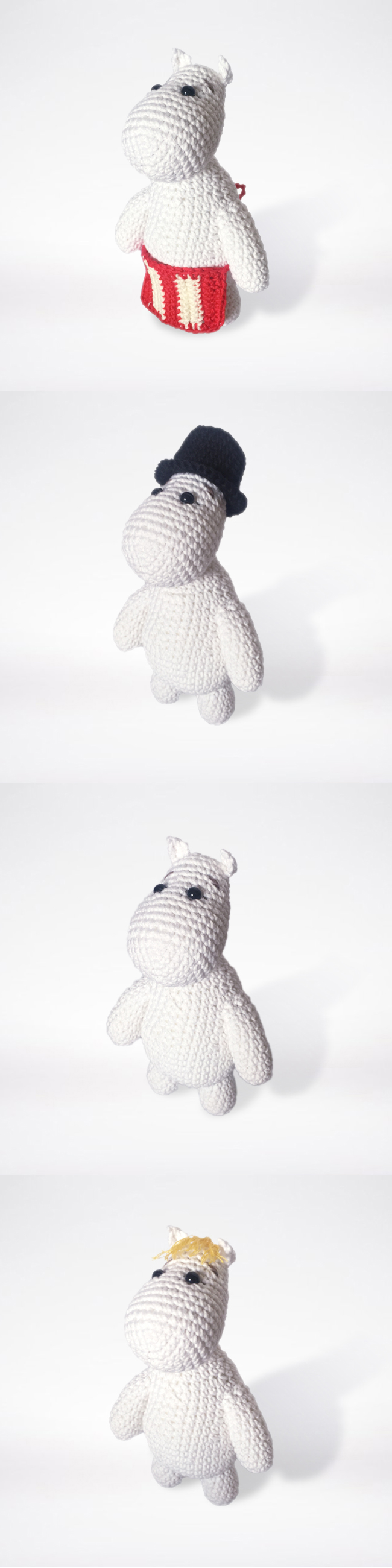 Crocheted Moomin family pattern | crochet | Pinterest | Gorros, Me ...