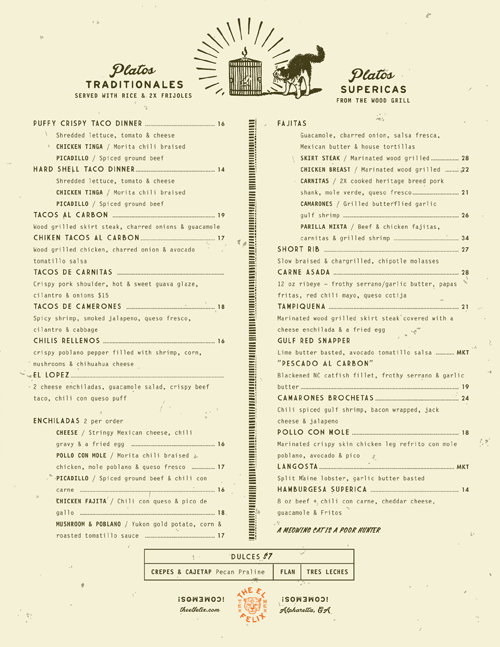 The El Felix Menu By Green Olive Media With Images Menu Design