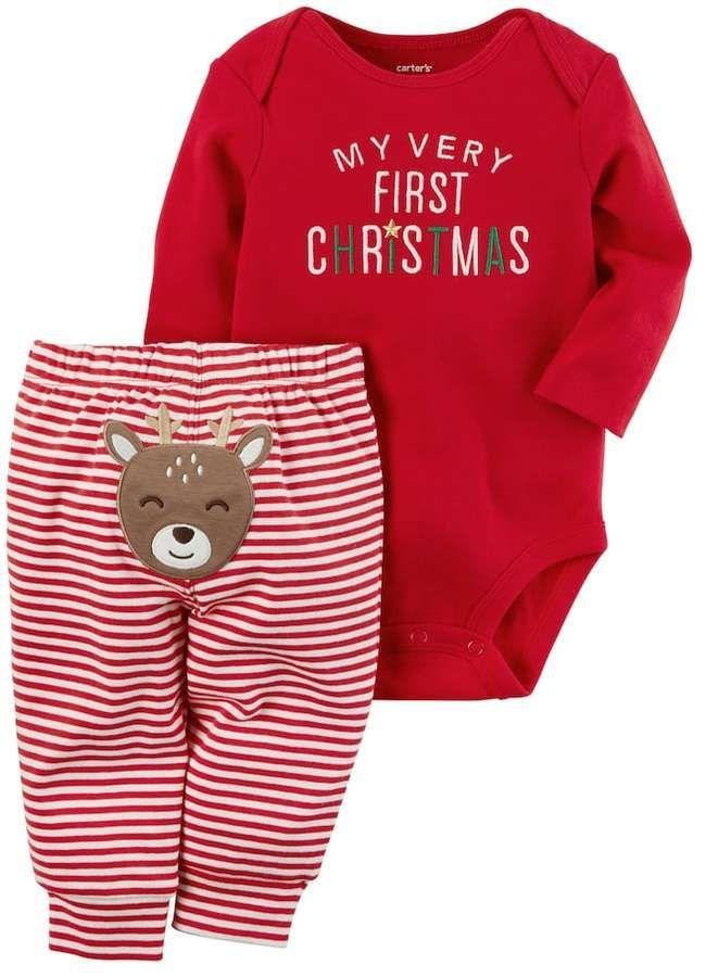 My 1st Christmas Baby-Body Jungen und Mädchen Weihnachten Winter