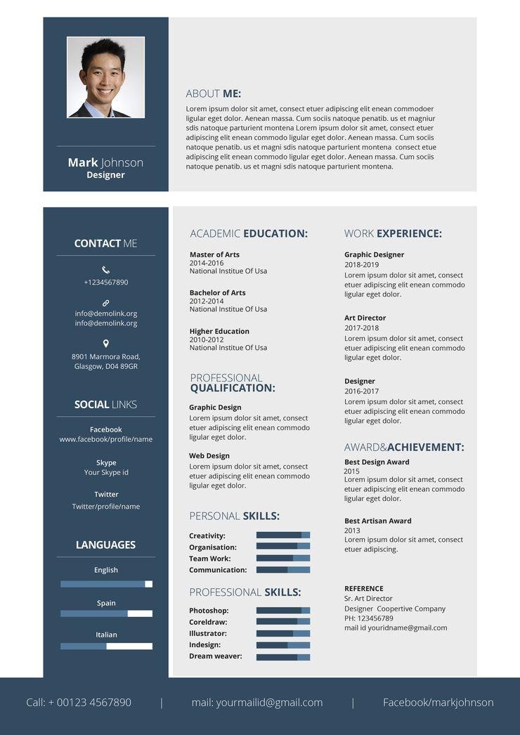 Designer Resume Cv Template Word Psd Apple Pages Google Docs Publisher Free Cv Template Word Downloadable Resume Template Resume Template Word