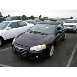 2004 Chrysler Sebring Speeds Auto Auctionscategory Convertible