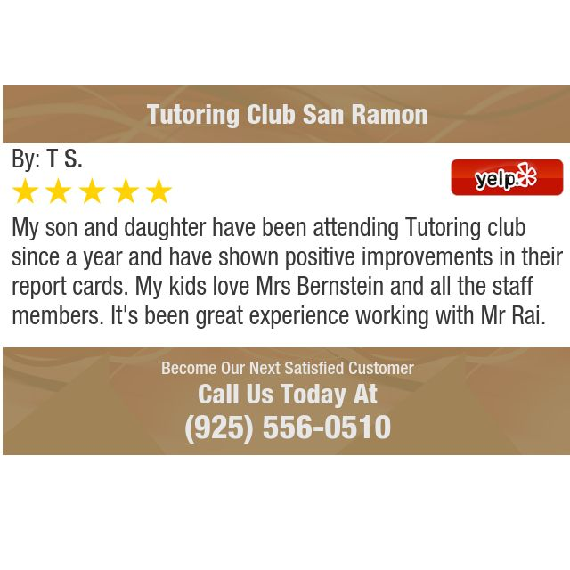 My Son And Daughter Have Been Attending Tutoring Club Since A Year