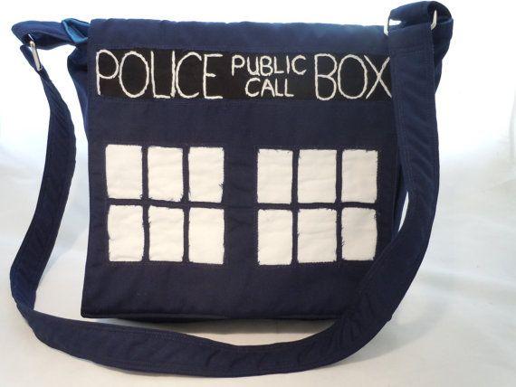 Tardis Dr Who Messenger Bag by nanioriginals on Etsy