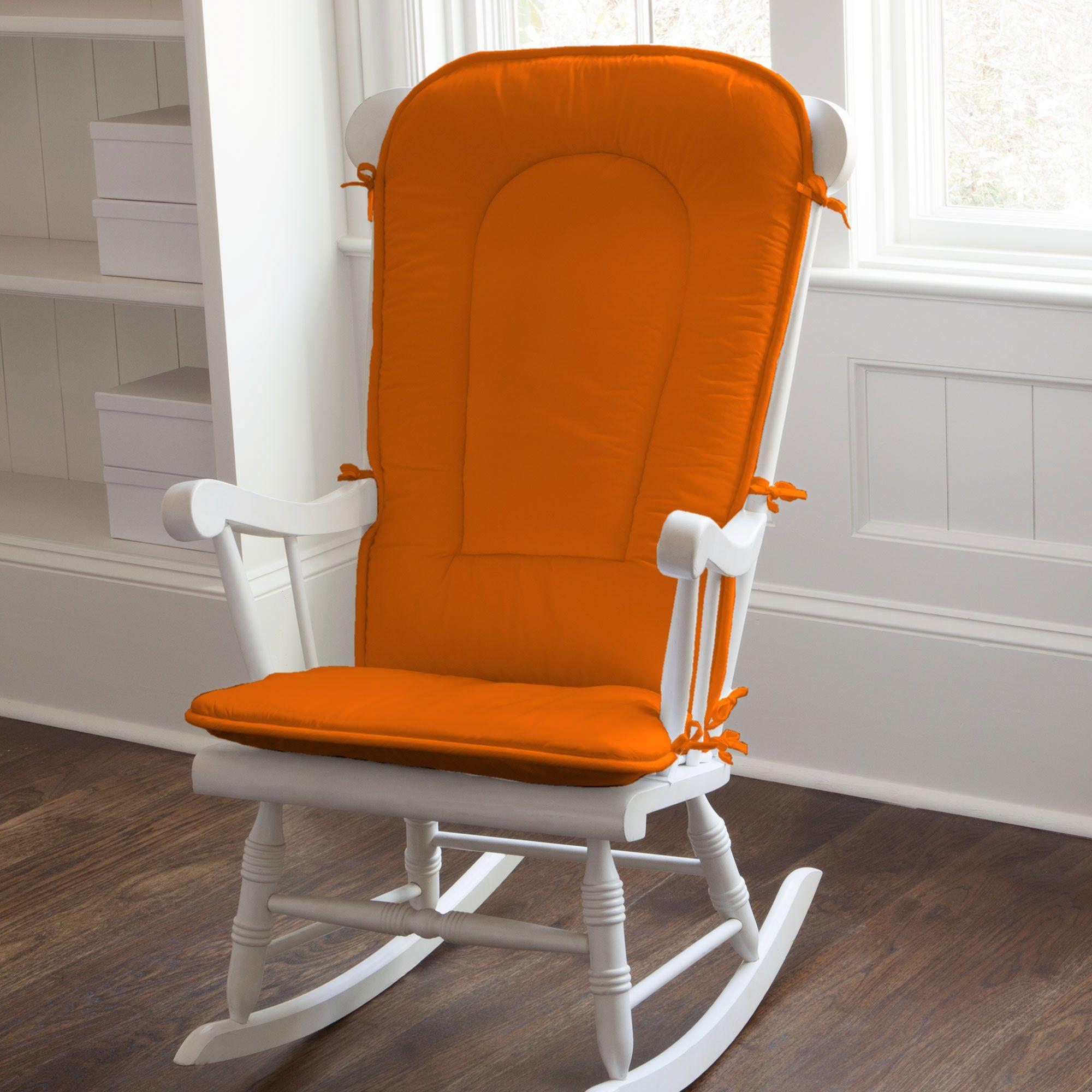 High Quality Solid Orange Rocking Chair Pad