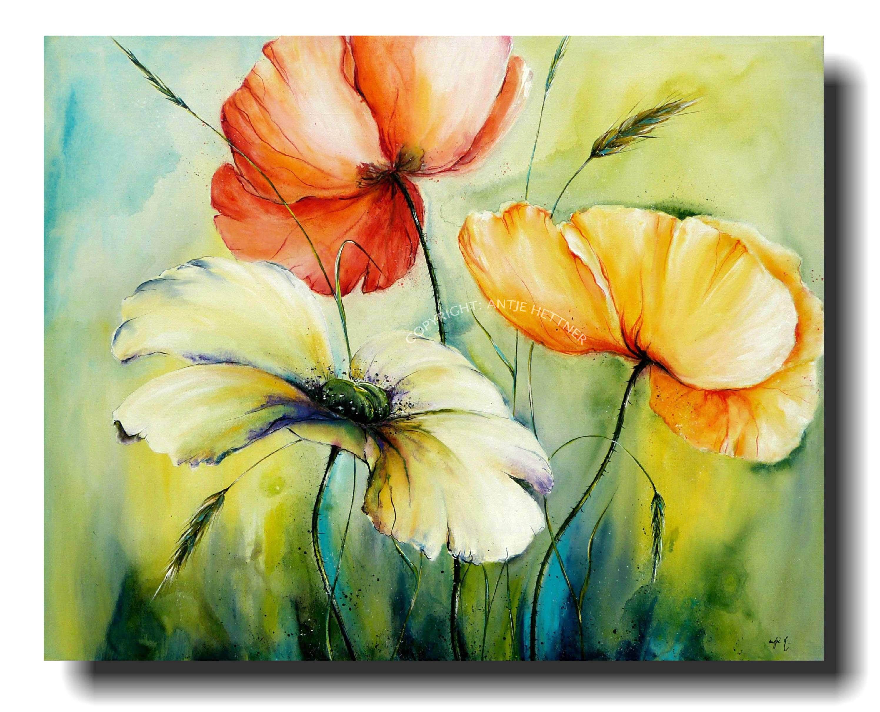Die 418 Besten Bilder Zu Acrylmalerei Blumen In 2020