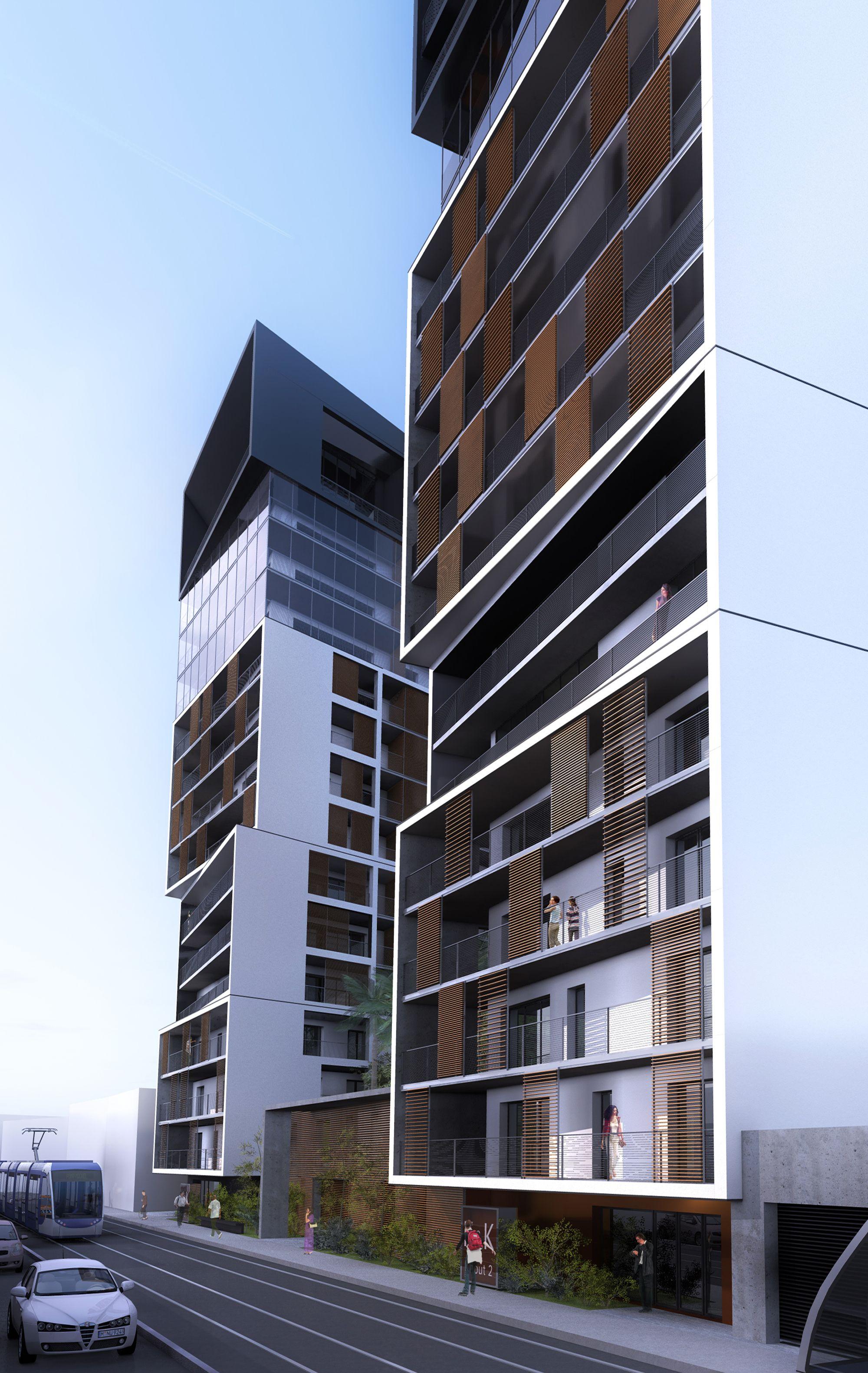 hk tours oran by agc architectes facade pinterest. Black Bedroom Furniture Sets. Home Design Ideas
