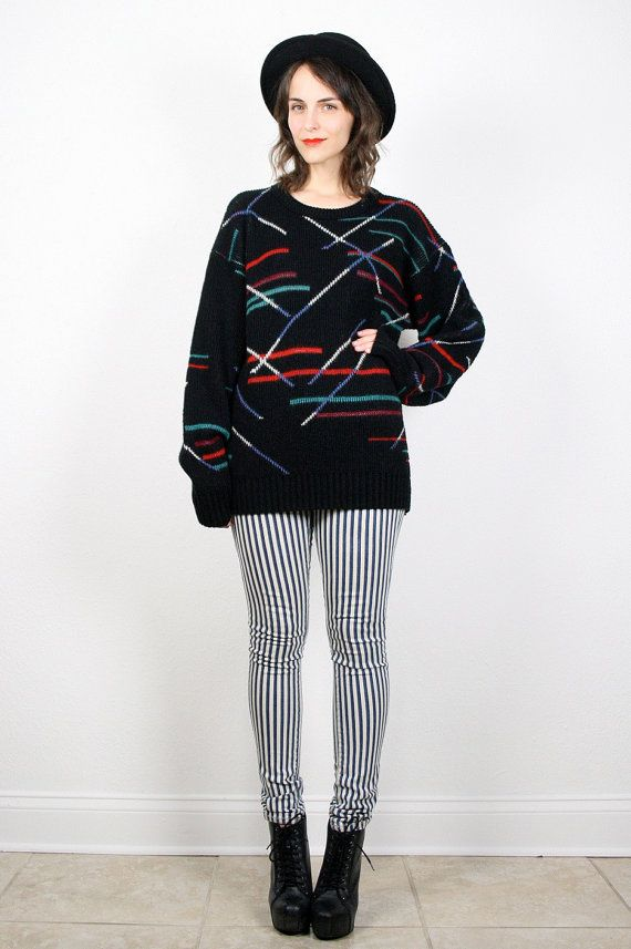 4623d6f308e Vintage 80s Sweater New Wave Sweater Cosby by ShopTwitchVintage ...