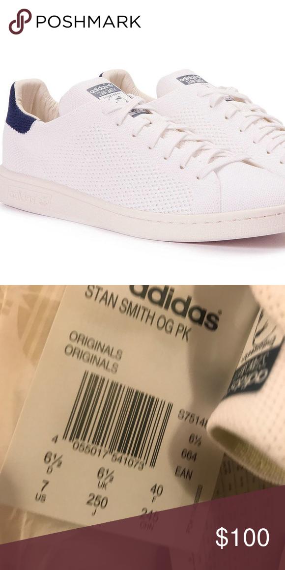 Adidas Stan smith knit navy size 7 Brand new, never worn