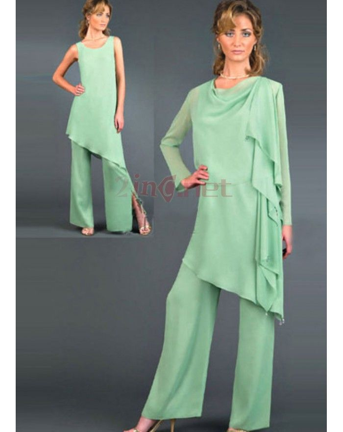 a2b60b3f9d4d Sexy Chiffon Mother Of The Bride Pant Suits - Size  US 10