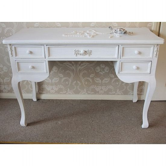 Drawer Antique White Dressing Table Writing Desk