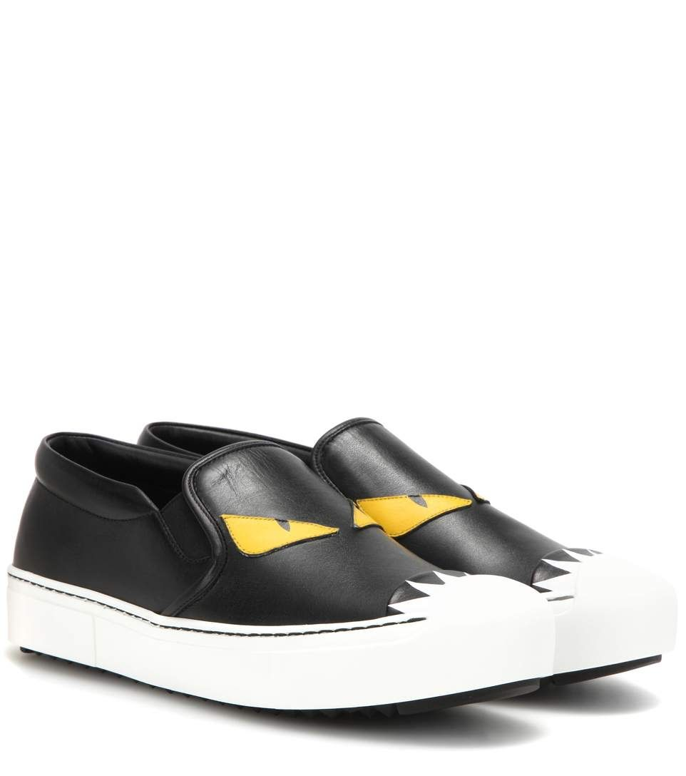 Fendi Slip-on-chaussures De Sport - Blanc qFylYiE6