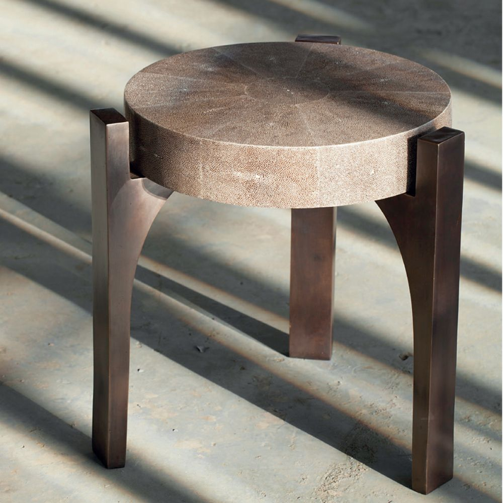 Upholstered Round Side Table Indoor Furniture In Dubai Uae