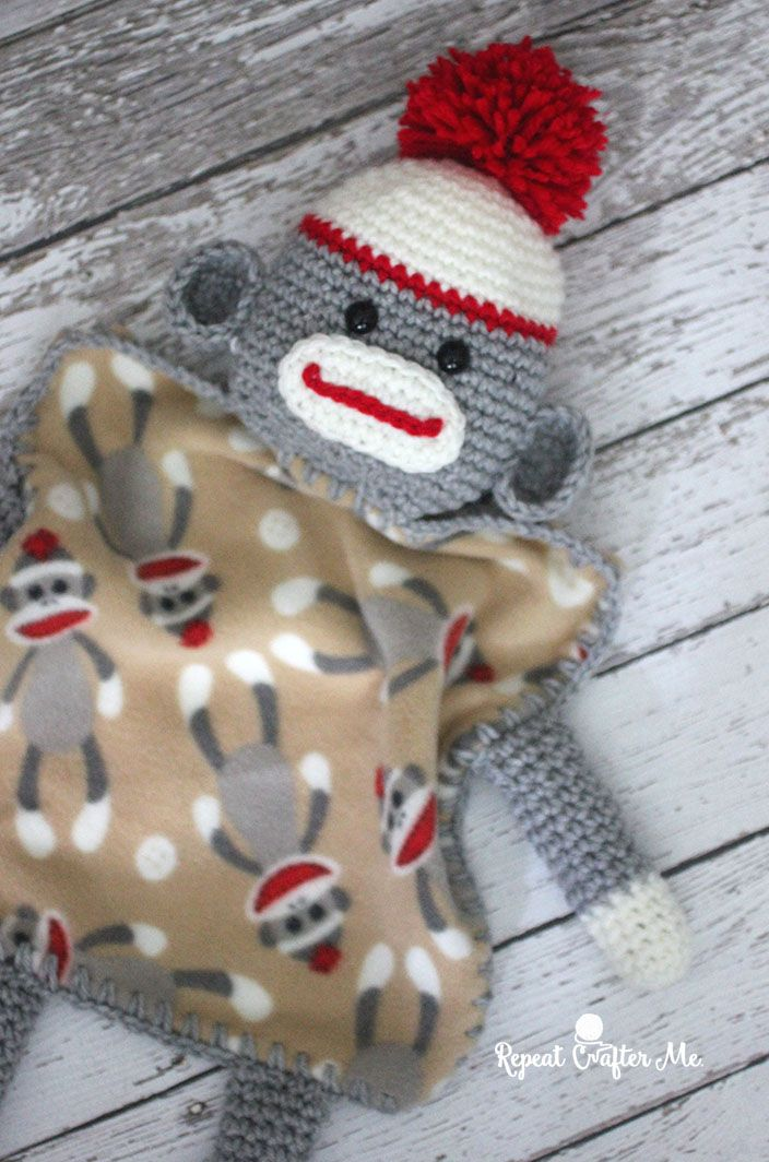 Crochet an adorable sock monkey love with this free crochet pattern ...