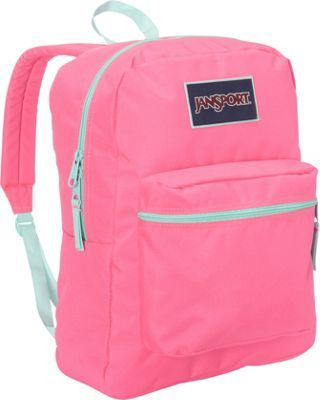 JanSport Overexposed Backpack Fluorescent Pink / Mint to be Green ...