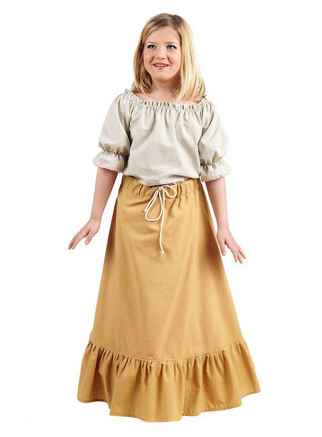 Gewand Mittelalter Kleid Kinder Leinen