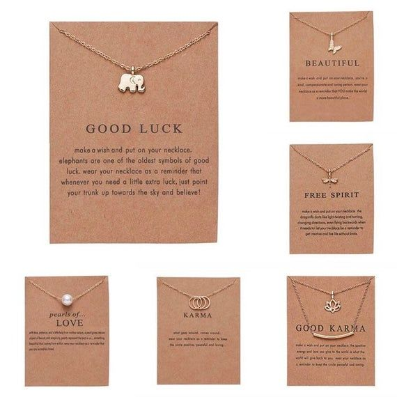 Gold Inspirational Message Necklace Meaningful Nec