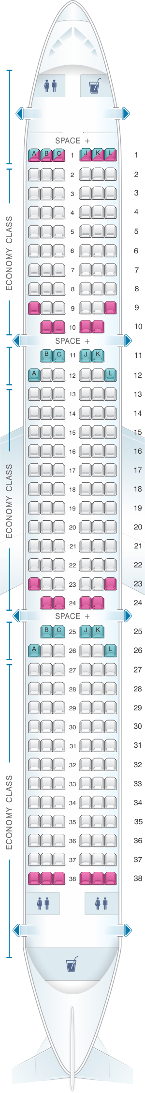 Seat Map Latam Airlines Airbus A321 Latam Airlines Jet