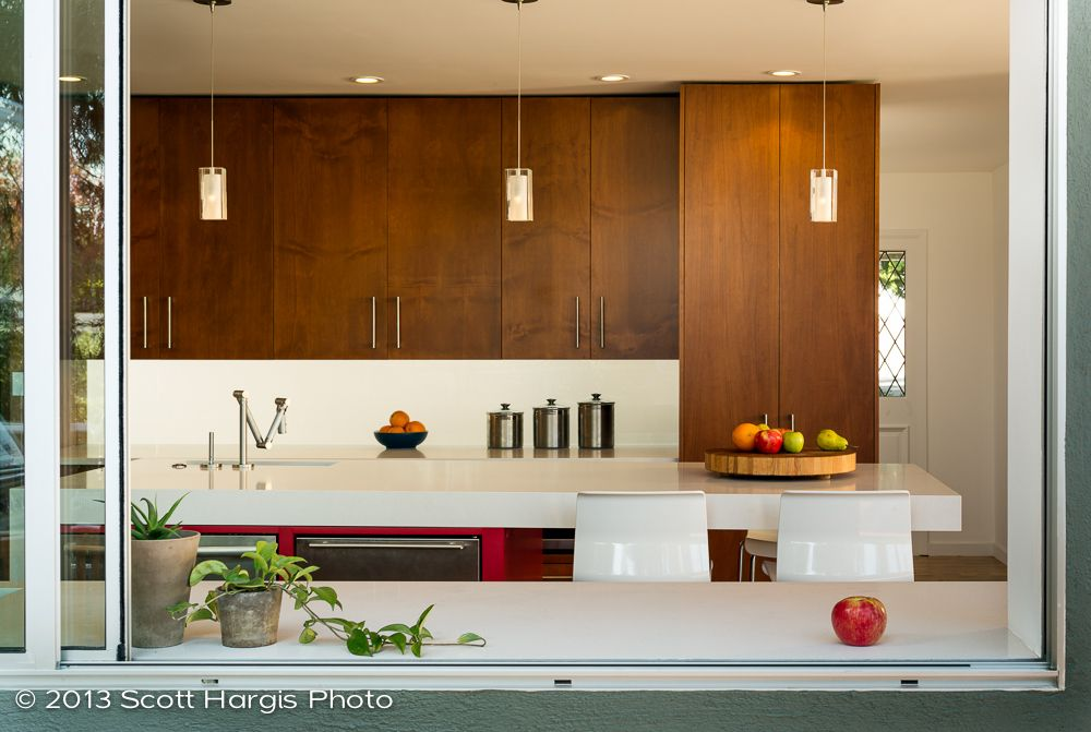 Warm Color Wood Cabinets. Simple Countertops. Dwell Mid Century Modern  Kitchen   Google Search