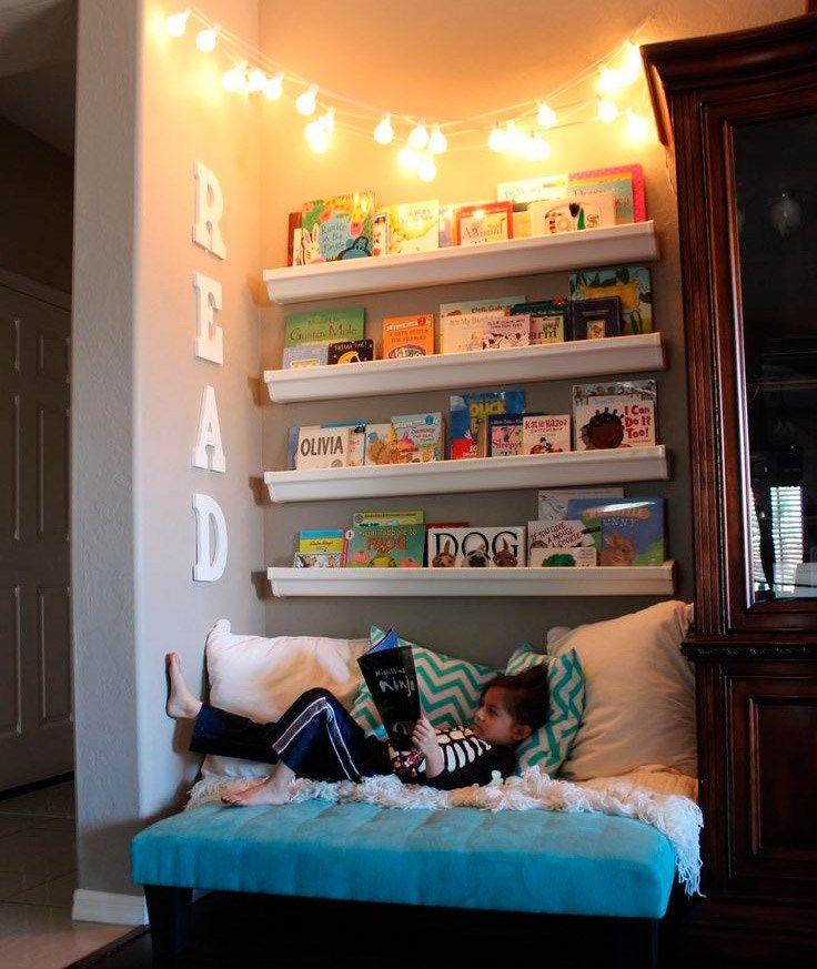 Rincón de lectura Decoración niñas Pinterest Room