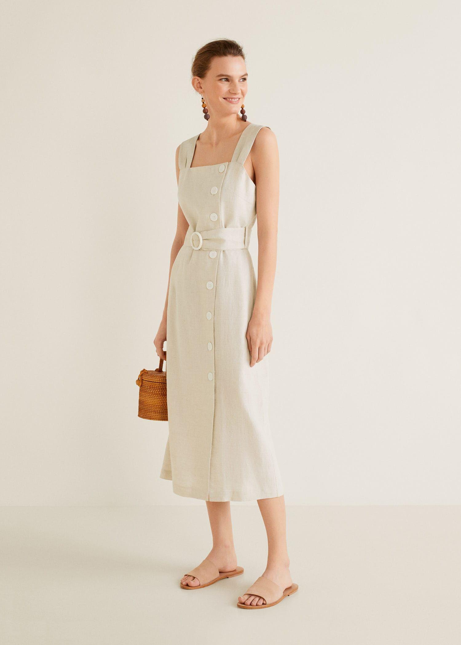 818399a45a0 Buttoned linen-blend dress - Women in 2019 | Spring/Summer Style ...