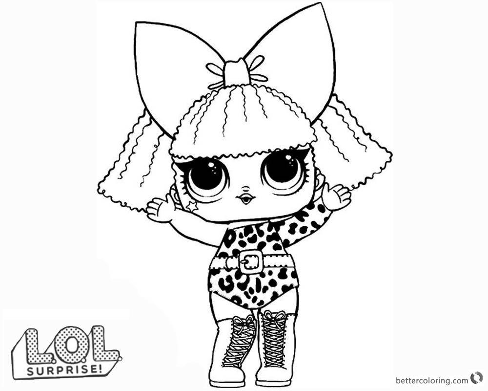 Lol Surprise Doll Coloring Pages Diva Printable Coloriage Herisson Poupees Lol Coloriage Gratuit