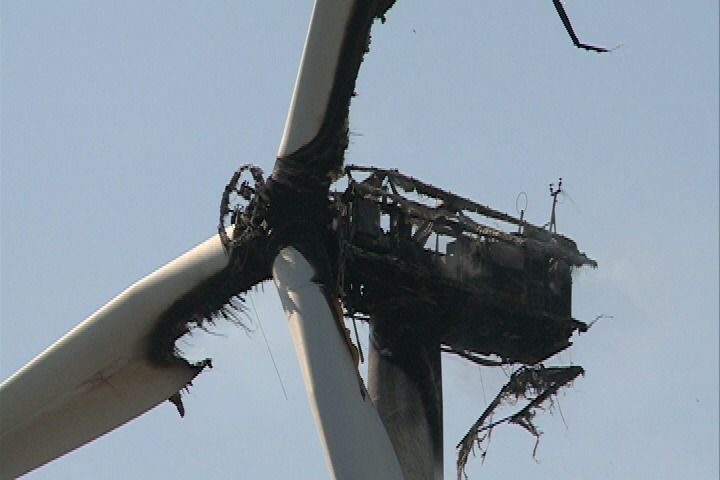 Turbine Fire In Iowa Wind Energy Photos