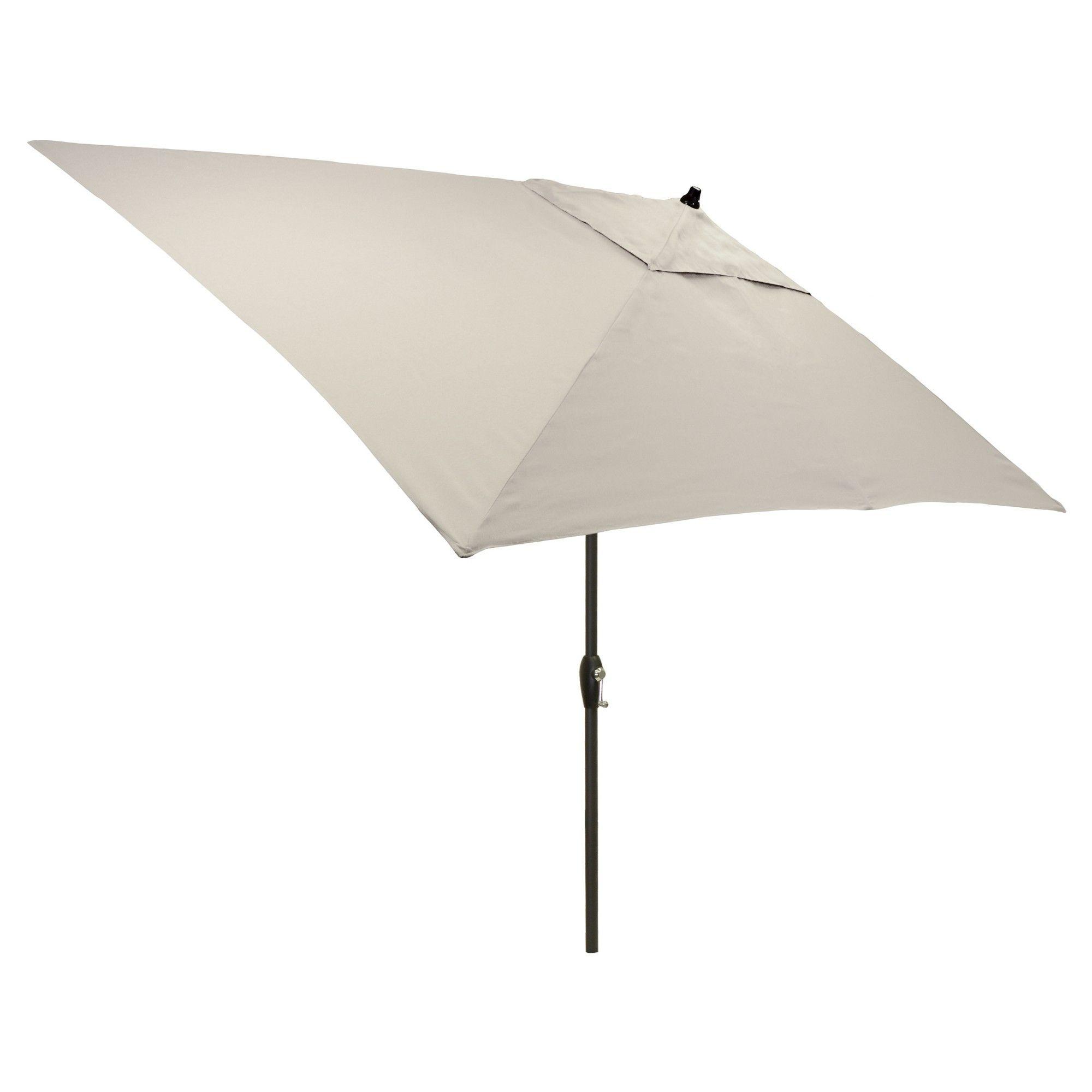 6 5 X 10 Rectangular Patio Umbrella Linen Black Pole