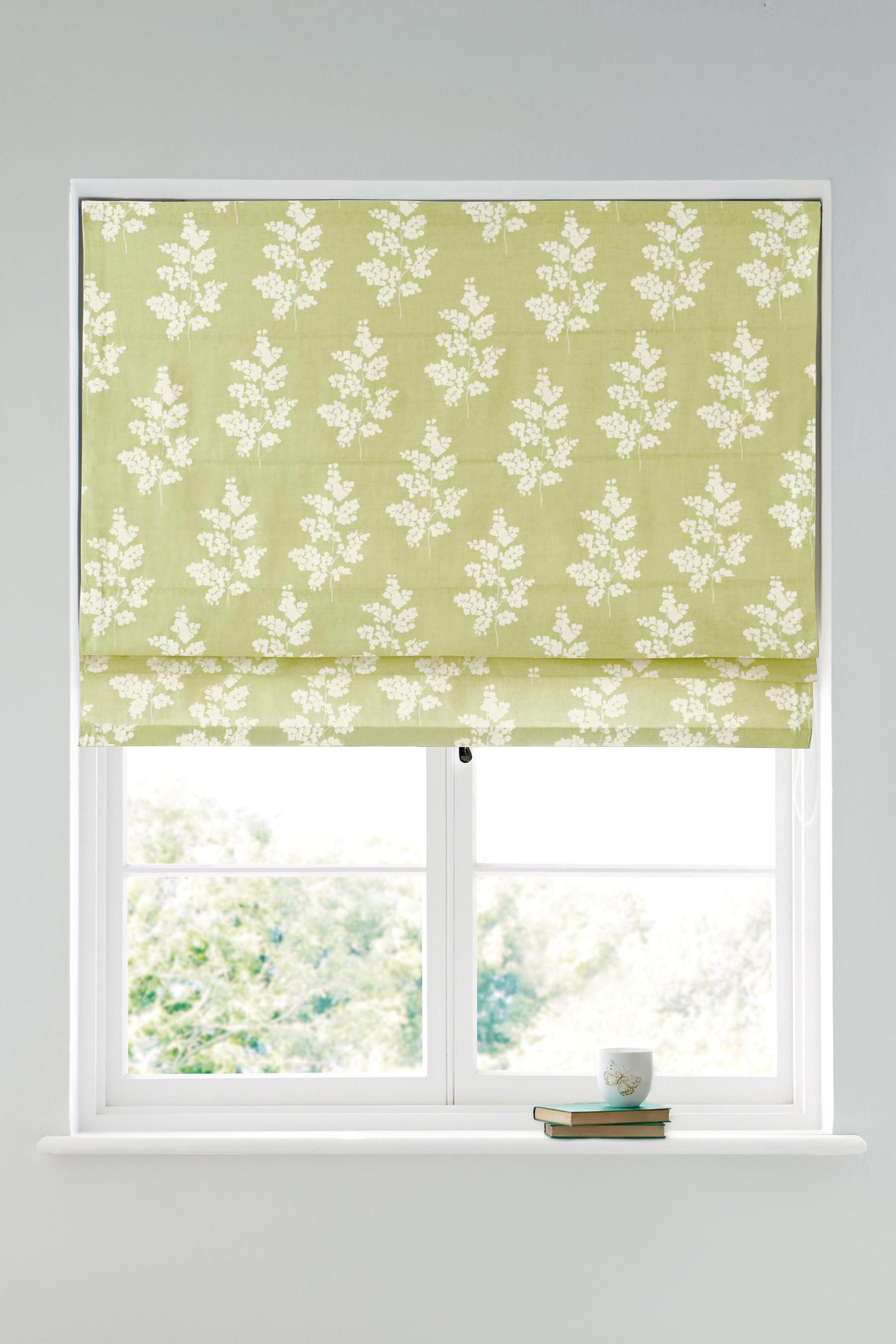 Buy Green Country Sprig Print Roman Blind From The Next UK Online Shop