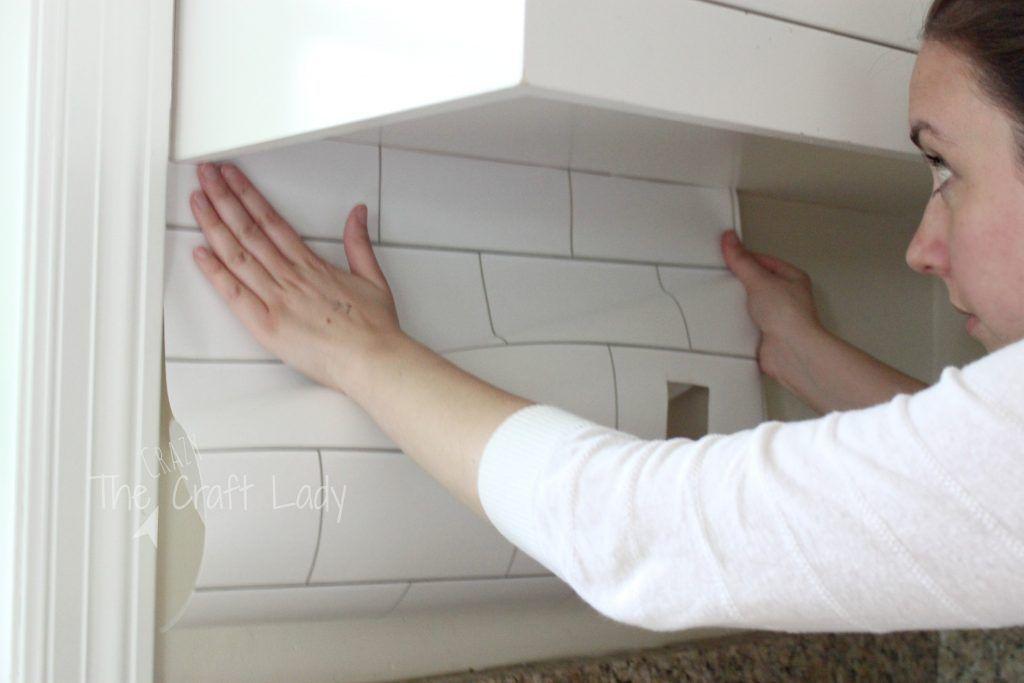White Subway Tile Temporary Backsplash The Full Tutorial Removable Wallpaper For Renters Rental Home Decor Countertop Makeover