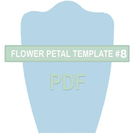 Flower Petal Template #8 PDF | Stenciling, Template and Pdf