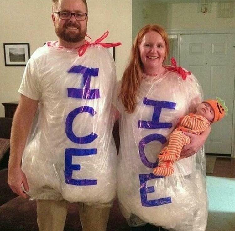 bag of ice halloween costume