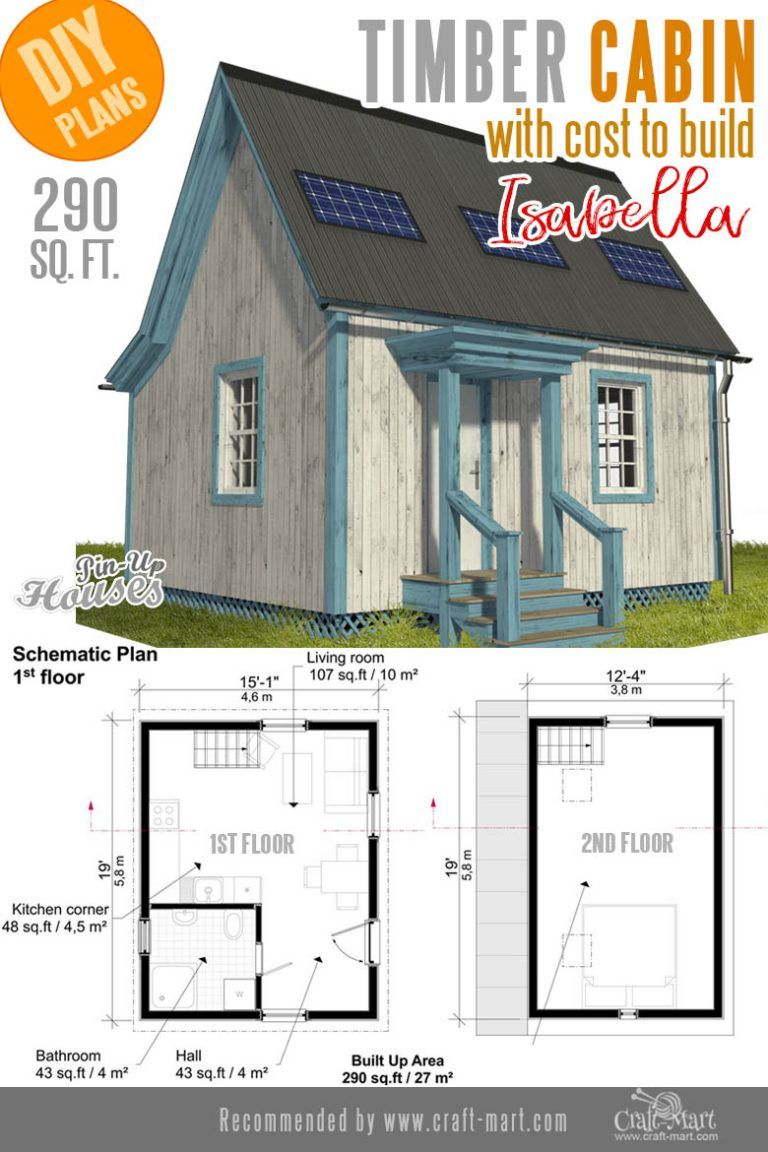 Awesome Small And Tiny Home Plans For Low Diy Budget Craft Mart Timber Cabin House Plans Cabin Plans