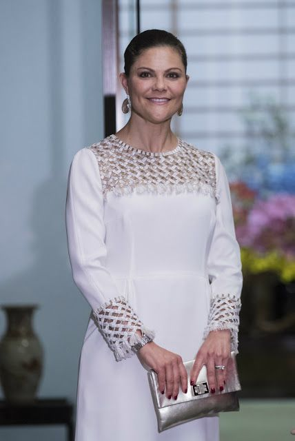EJ AVTAL 2017-04-21 Crown Princess Victoria attend a dinner with Crown Prins Naruhito in Tokyo. COPYRIGHT STELLA PICTURES