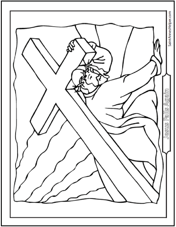 Good Friday Coloring Pages + For God So Loved The World