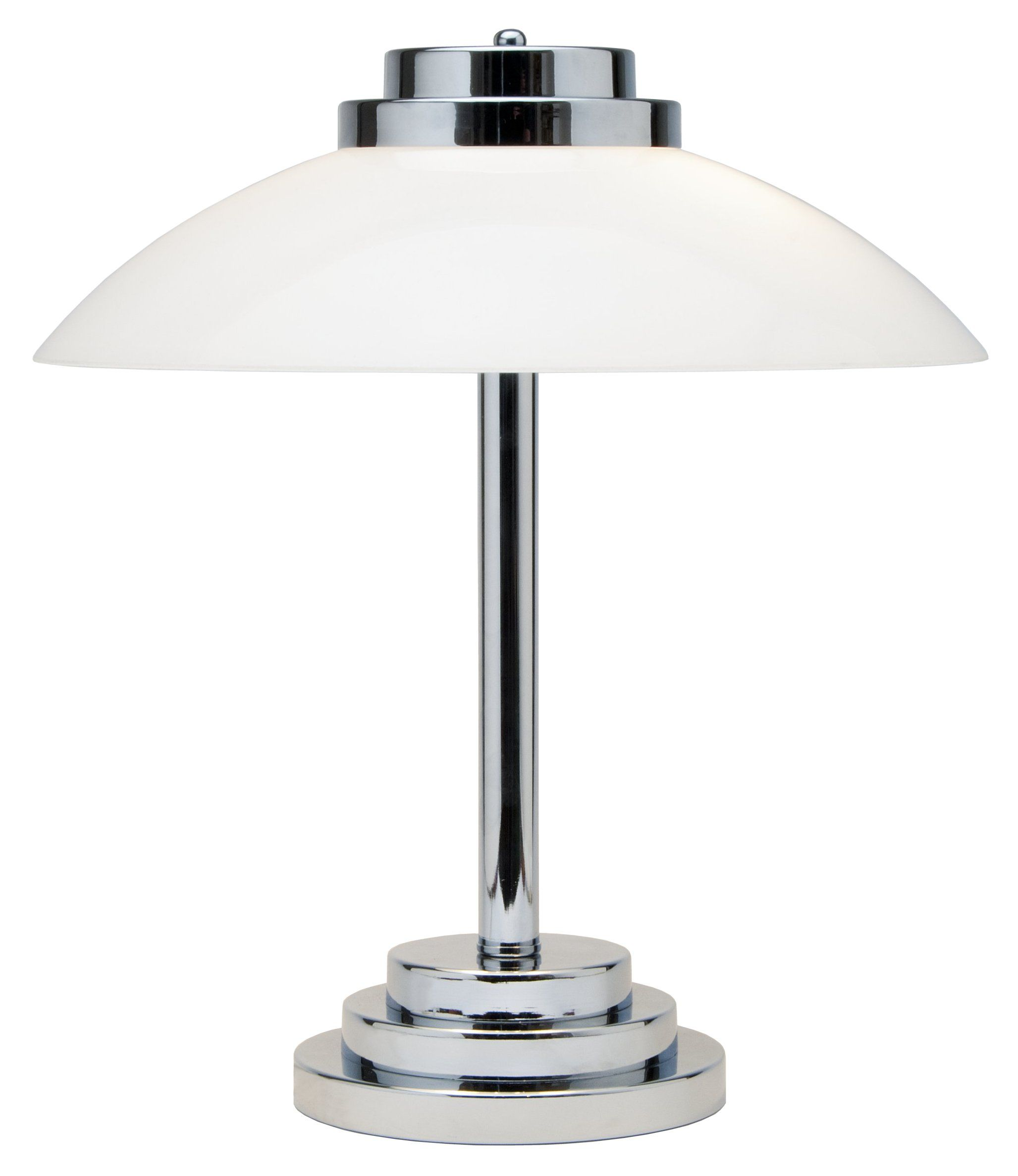 Art deco inspired chrome table lamp about the house pinterest art deco inspired chrome table lamp geotapseo Gallery