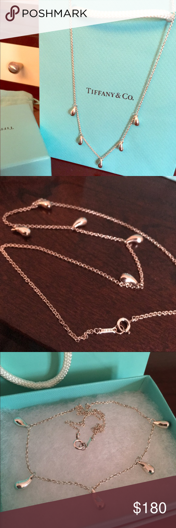 Tiffany's Five Tear drop Perreti necklace Shiny and bright rarely used ** No trades Tiffany & Co. Jewelry Necklaces