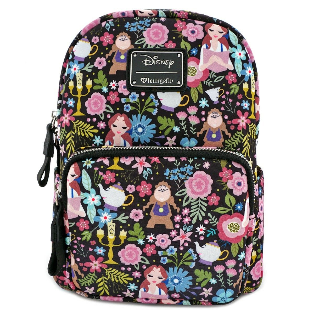 Loungefly Disney Beauty and the Beast Floral Print Mini