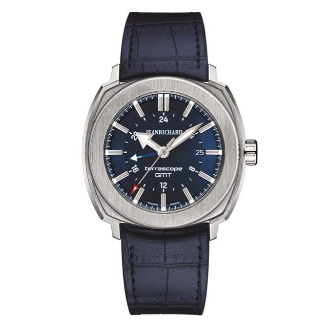 Terrascope GMT #bleue, choix de @magmontres pr un style sport chic #GMT #acier #rubbergator #automatique #watches #watchnerd #watchporn #watchoftheday #voyage #decalagehoraire #jetlag