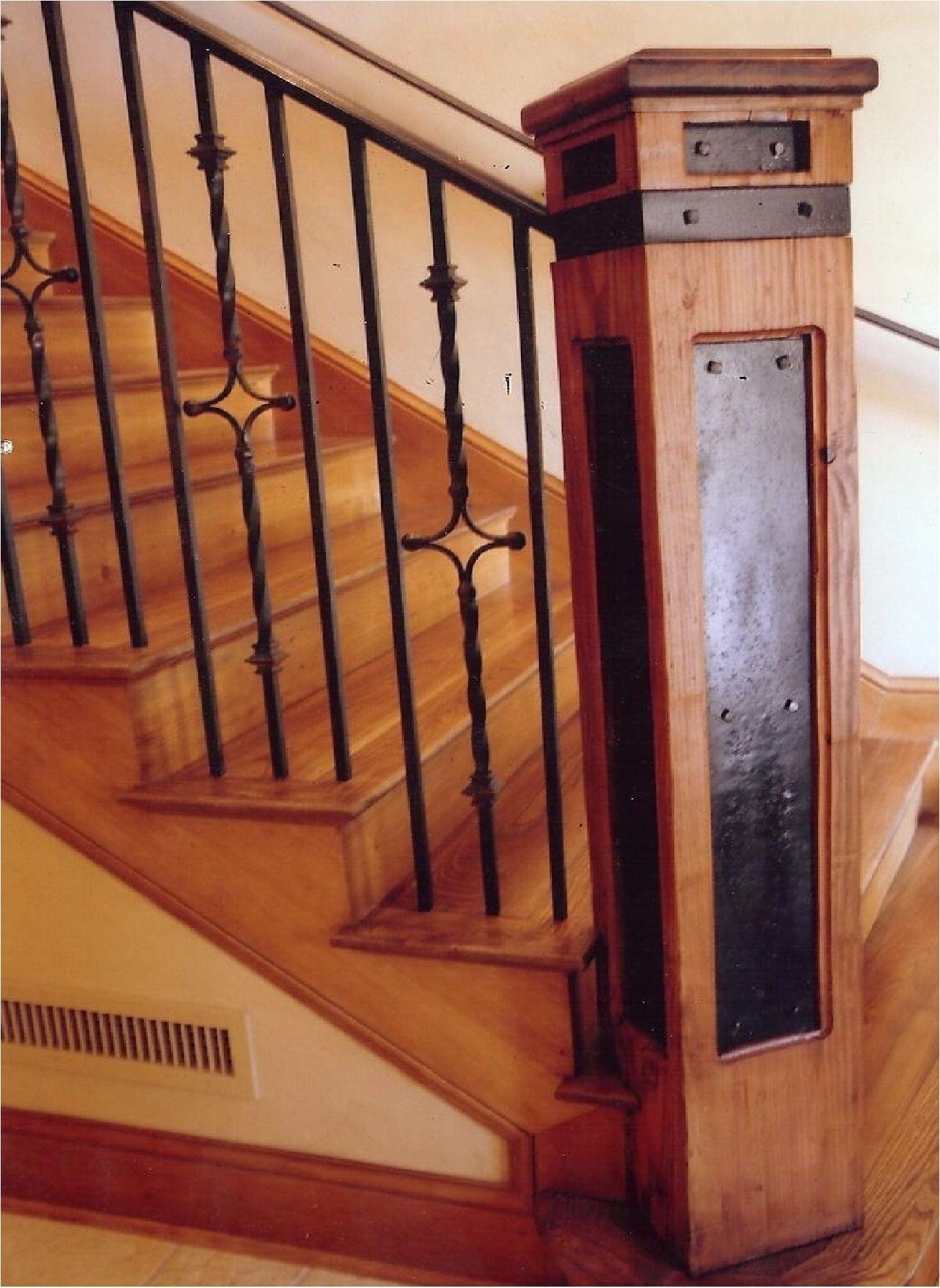 Custom Newel Post Wood Newels Product Custom Square Inlay Box Newel Stairs