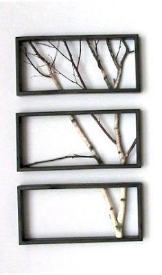 Ashbee Design: Birch Branch Triptych by John Oman