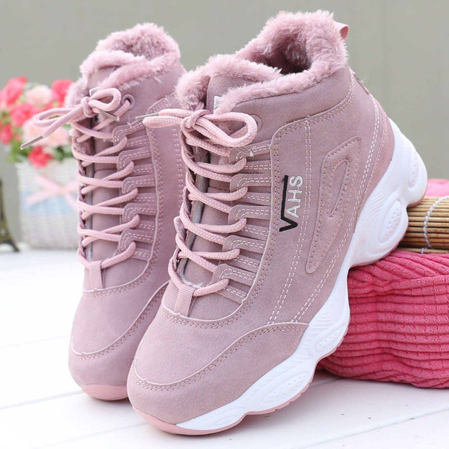 Shoes Warm Thick Plush Suede Snow Boots Female Etsystyle Etsy Style Casual Shoes Women Summer Boots Ankle Womens Wedge Sneakers