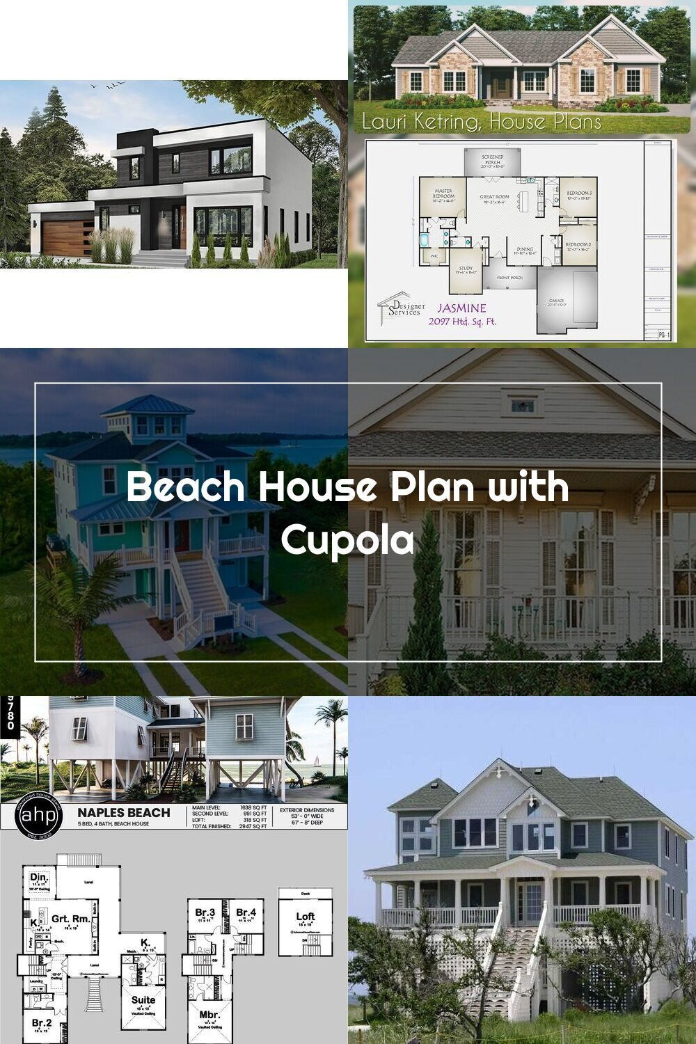 Beach House Plan With Cupola 15033nc Architectural Designs House Plan In 2020 Beach House Plan Beach House Plans House Plans