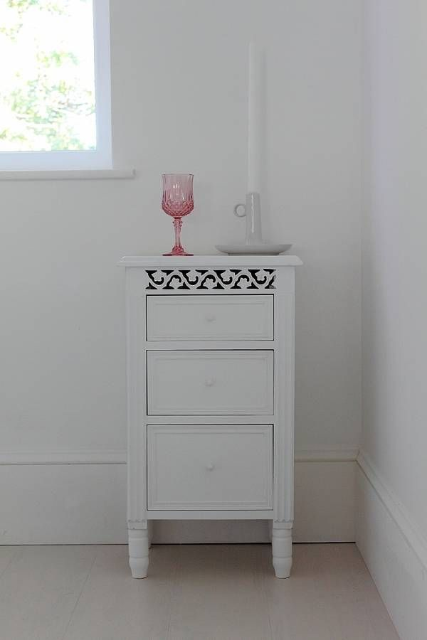 White Fretwork Bedside Table | Bedrooms, Woodwork and Interiors