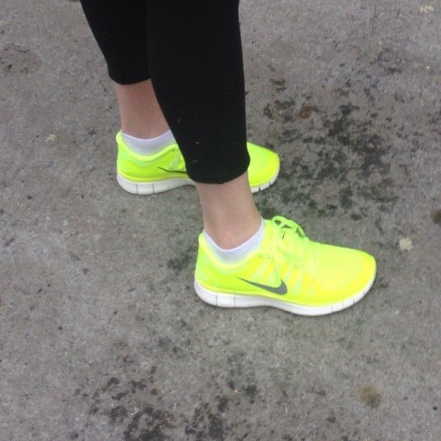 "It's a ""don't mess with me"" kind of day #volt #nike #freerun #ShiftforGood"