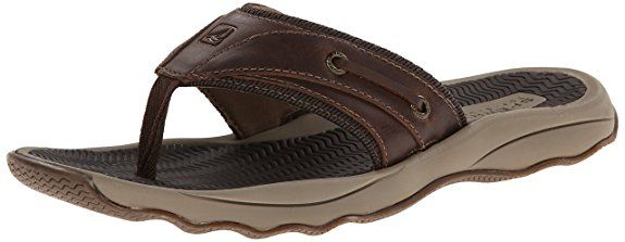 1328d37936f565 Sperry Top-Sider Men's Outer Banks Thong Fisherman Sandal, Brown, 11 M US