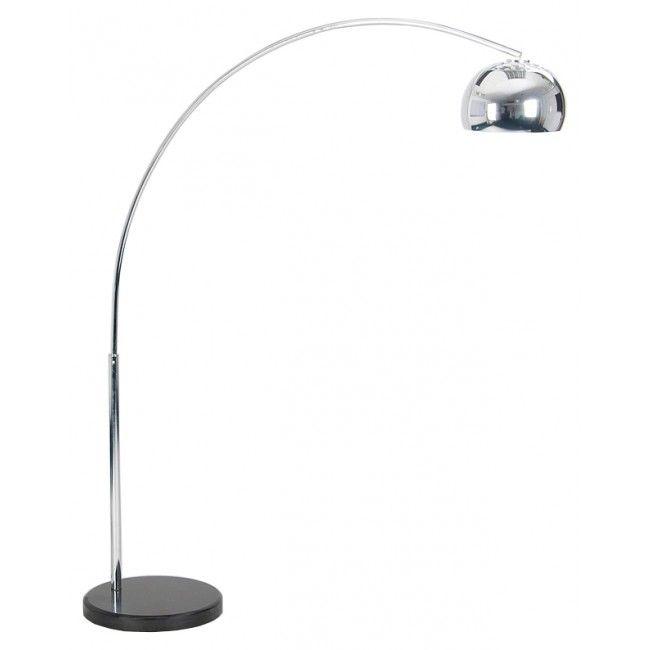 Achille & Pier Castiglioni Style Midi Arco Floor Lamp with Black ...