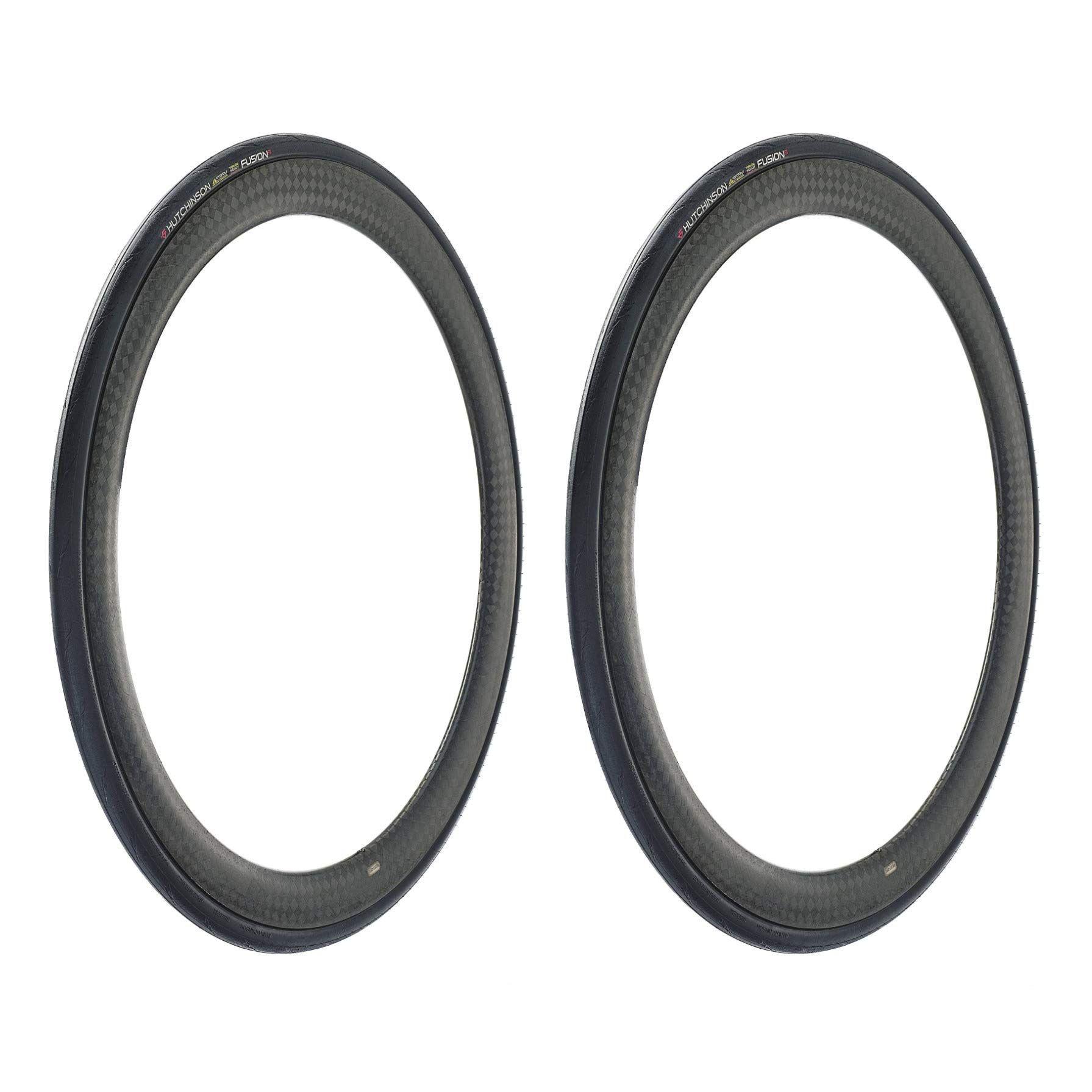 Black 2-Pack Hutchinson FUSION 5 All-Season Tubeless Ready Bike Tires 700x25