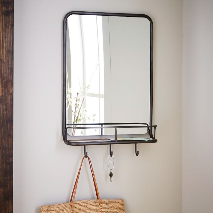 Entryway Mirror Hooks Mirror With Hooks Entryway Mirror Small Wall Mirrors